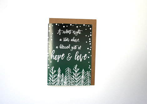 A Silent Night Christmas Greetings Card
