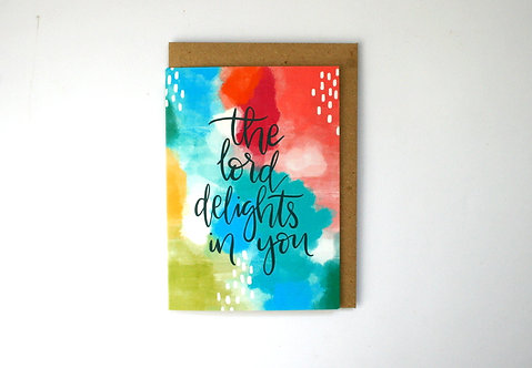 The Lord Delights Greetings Card WS