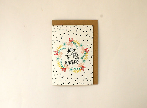 Joy Spot Christmas Greetings Card WS