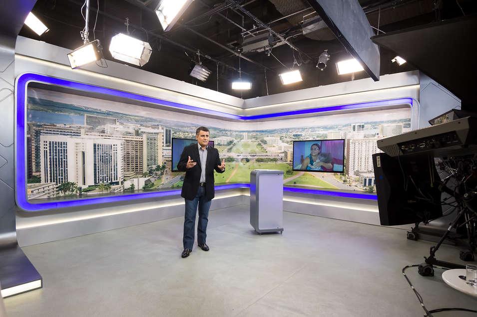 Produção de fotos panorâmicas para o cenário do Balanço Geral Brasília