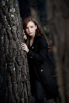 Ensaio fotográfico de 15 anos com tema crepúsculo, debutante