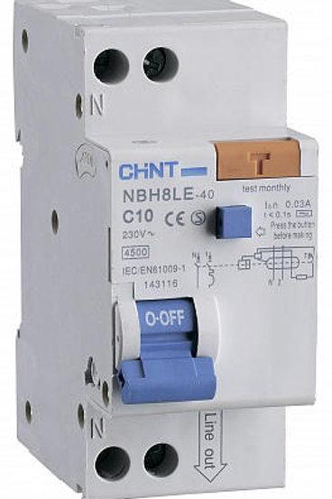 Диф. автомат NBH8LE-40 1P+N 40A 30mA х-ка С 4.5kA (R) (CHINT)