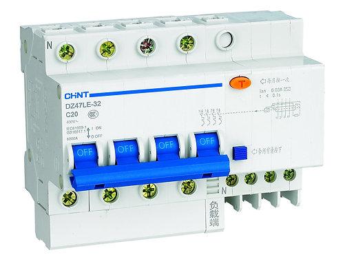 Диф. автомат DZ47LE-32 2P 10A 100mA тип AC х-ка С 6kA (CHINT)