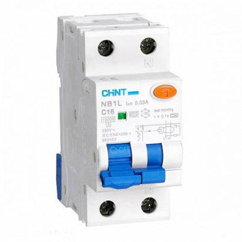 Диф. автомат NXBLE-63 2P C50 30mA тип AC  6kA (CHINT)