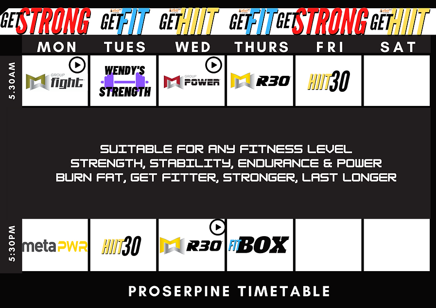 PROSSY static TIMETABLE NEW HIT STRONG F
