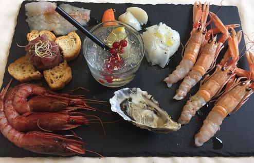 Fusione di sapori di pesce crudo