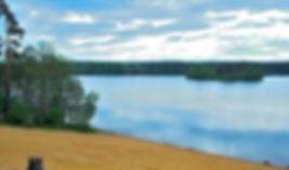 Пляж на Раздолинском озере