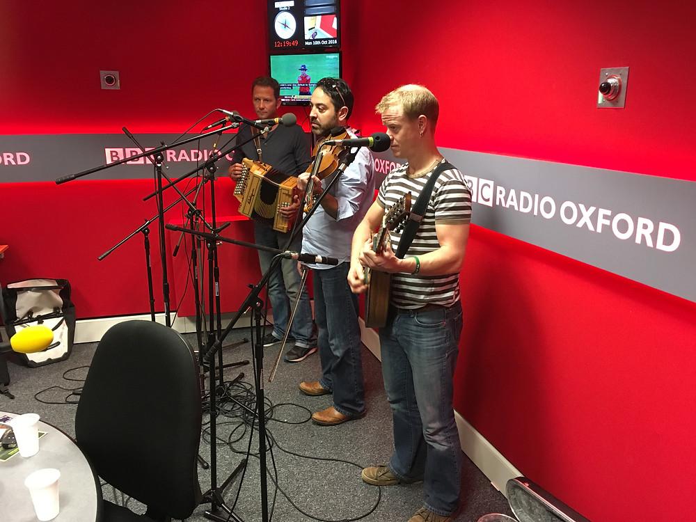 Recording for BBC Radio Oxford