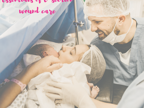 The essentials of taking care of a c-section wound