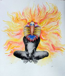 Dios trilobite del fuego