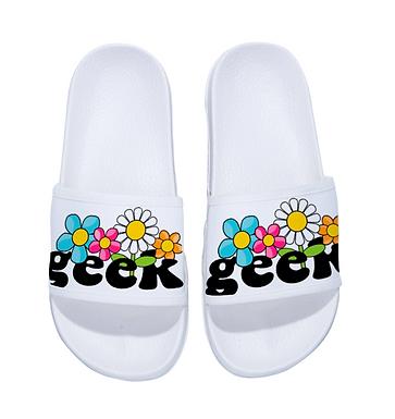 Floral Geek Slippers
