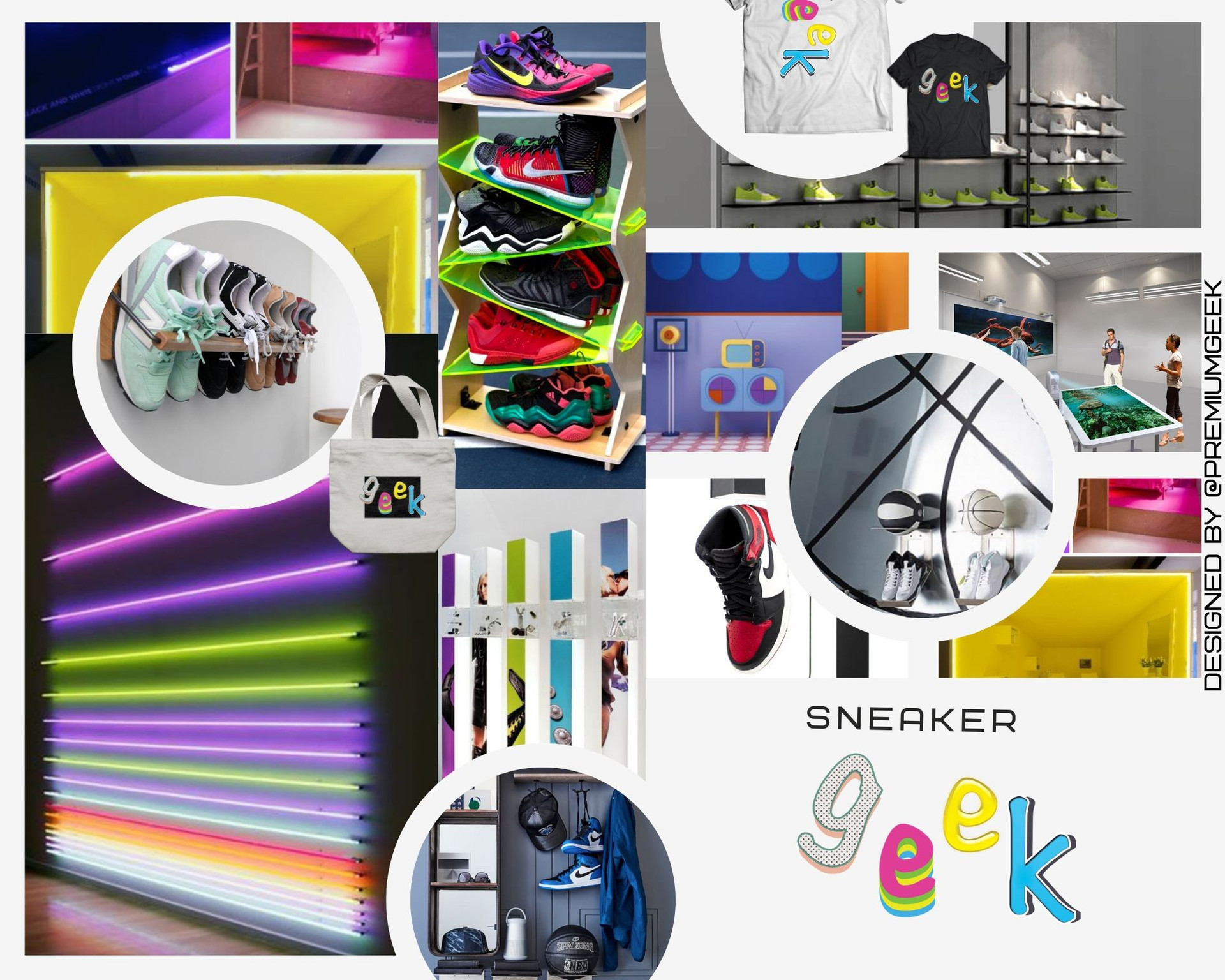 Sneaker Boutique Mood Board