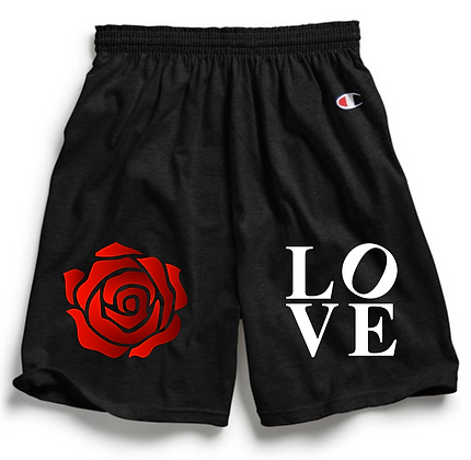 Love Conquers  x Champion Shorts