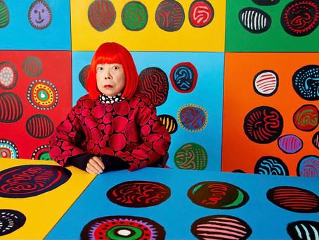 "Yayoi Kusama In New York's very own Gallery ""David Zwirnee"" in 2021"