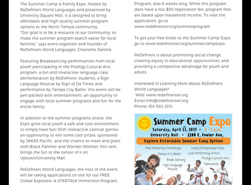 FREE Summer Camp? YES! Come Out to the Summer Camp Expo to Learn More...