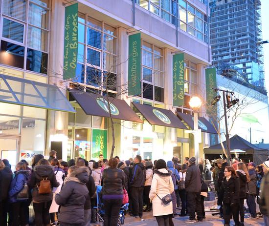 Wahlburgers Toronto Opening