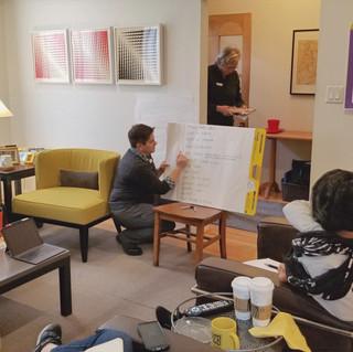 Brainstorming with W+iD Leadership