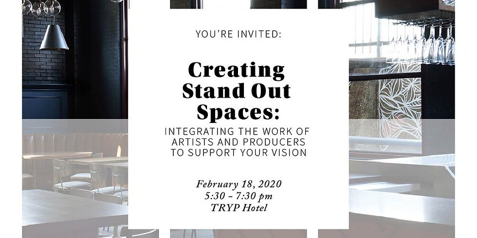 Partner Event —Creating Stand Out Spaces