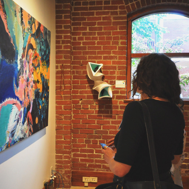 Enjoying the Exhibit
