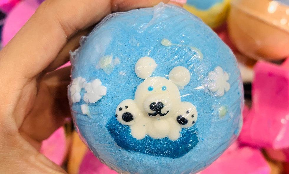 Bomba de baño oso polar