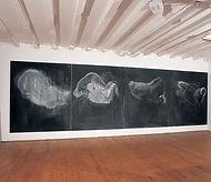 Conversazioni, 2006,  gesso su tavola, 1