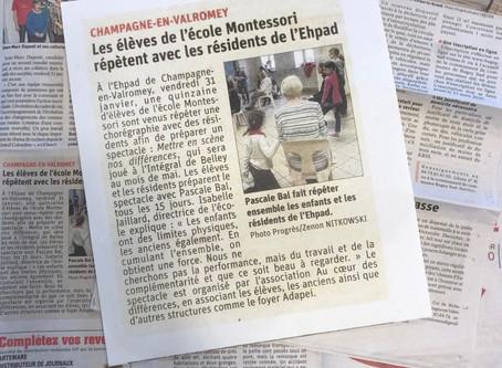 """l'école montessori bilingue du Bugey participe au 4ème festival: """"mettre en scène  nos differences"""""""