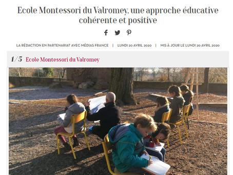 L'école Montessori bilingue du Bugey dans Marie-France