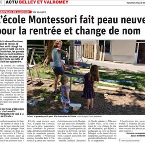 L'école Montessori du Bugey fait sa rentrée
