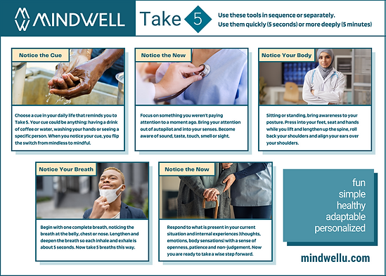MindWell Healthcare Take 5 - with border