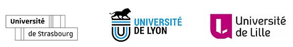 Logos Lille Lyon Strasbourg