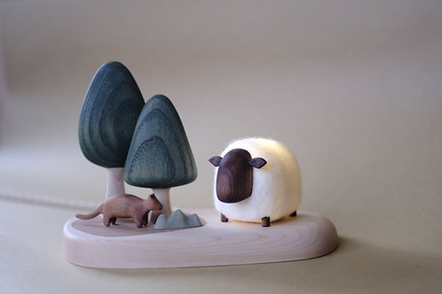 The Sheep in the Woods | night light