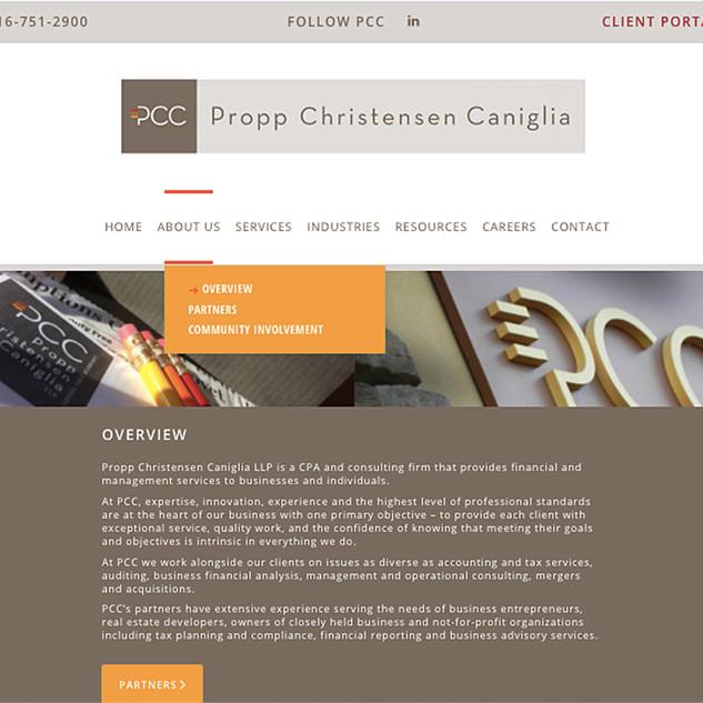 PCC web page