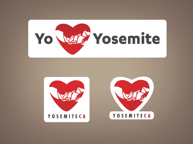 I LOVE Yosemite stickers