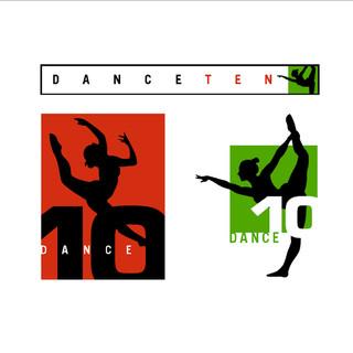 Dance Ten Studio brand identity elements