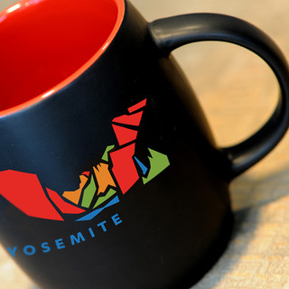 Yosemite black barrel mug.