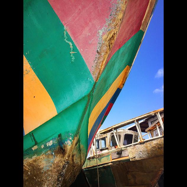 Boat yard, Scarborough, Tobago.