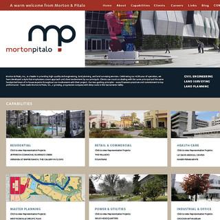 Morton Pitalo web site interface design & production