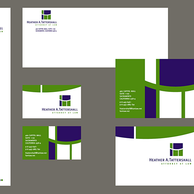 Family law attorney visual brand identity