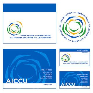 AICCU logo & visual brand identity