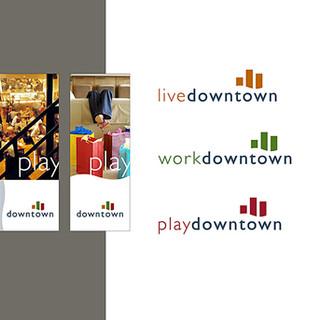 Downtown Sacramento core brand design and sub-brands.