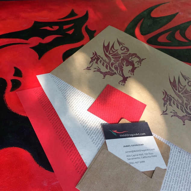 Welsh Dragon Art branding