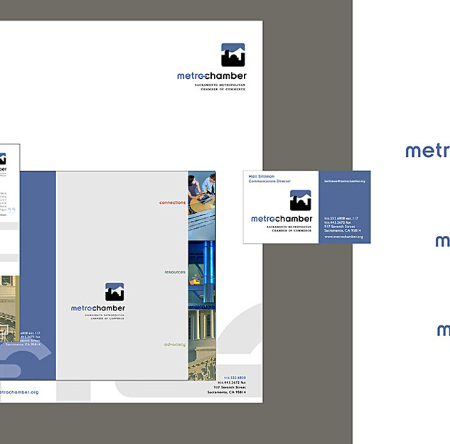 Sacramento Metro Chamber visual brand identity