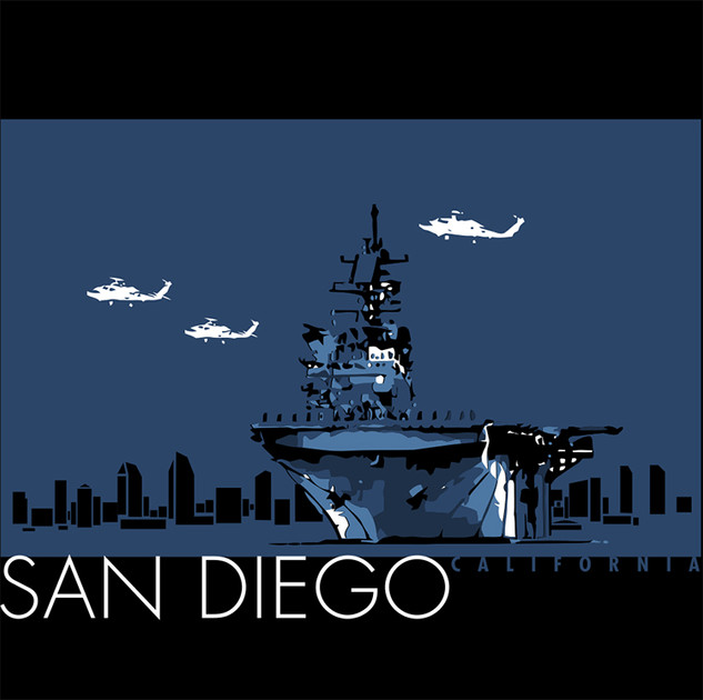 San Diego Navy art
