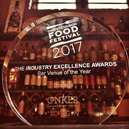 Christchurch Food Festival - Winner of Bar venue of the year 2017