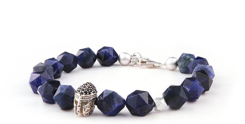 American Dumortierite Men's Lucky Bracelet