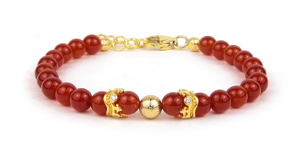 Swedish Meteorite Brazil Red Agate Ladies Bracelet Jewels