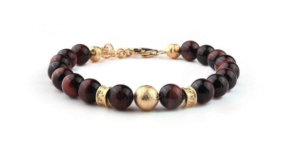Meteorite Red Tigers Eye Men's Energy Bracelet