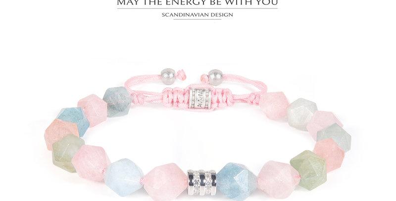 AWNL Treasure Bracelet with Morganite and CZ diamond