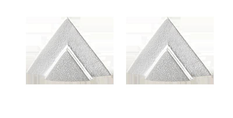 Double Triangle Matt Stud Earring Unisex