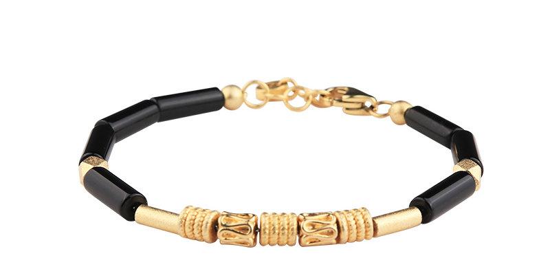 Brazil Black Onyx Sterling Silver Bracelets